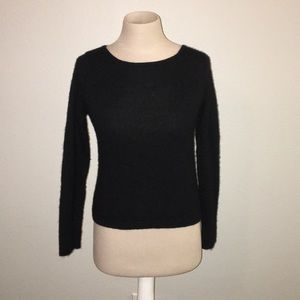 Theory Silk & Cashmere Blend Cropped Sweater